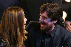Aquarian Actor Christian Bale: Christian Bale with wife Sibi Blazic / Chris Polk for Getty Entertainment