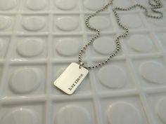 Personalized Necklace   Dog Tag Style   Men's by PureJewelDesigns