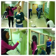 Happy Martin Luther King Day! We are volunteering at Germantown High School in Philadelphia to help paint the hallways and classrooms. Volunteering is a great way to celebrate and pay tribute to Dr. King. #MLKday #Community