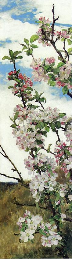 Apple Blossoms  Alfred William Parsons, R.A., P.R.W.S.