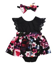 Black Floral Baby Girl/Toddler Dress - May 11 2019 at Toddler Girl Dresses, Toddler Outfits, Girls Dresses, Girl Toddler, Baby Dresses, Lila Outfits, Baby Outfits, Newborn Outfits, Baby Girl Fashion
