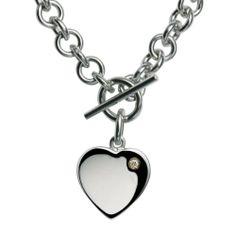 Hot Diamonds Lovelocked Silver and Diamond Necklace 40cm: Amazon.co.uk: Jewellery