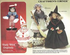 Faith Wick is a member of the National Institute of American Doll Artists. She is a sculpter and doll artist who creates in porcelain and other mediums. Effanbee Dolls, Girls Characters, Touching You, Vintage Dolls, Doll Clothes, Wicked, Catalog, Witch, It Cast