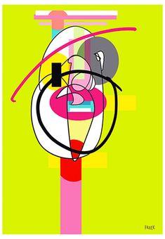 Junky Woo Too by Sam Freek - Contemporary art prints for the modern home - #art #artprint #abstractart #portrait
