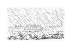 A typical day on Rannoch Moor day 21 Inktober, Beach Mat, Outdoor Blanket