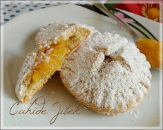 orange cookies - New Pin Fruit Cookies, Orange Cookies, Jam Cookies, Filled Cookies, Sweet Cookies, Mini Desserts, Cookie Desserts, Cookie Recipes, Dessert Recipes