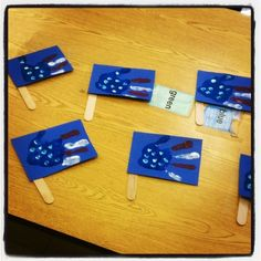 Hand Print Flags - Memorial Day Craft