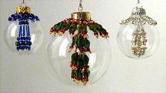 Glass Bubble Tassel Ornaments Pattern by Deb Moffett-Hall aka Patterns to Bead