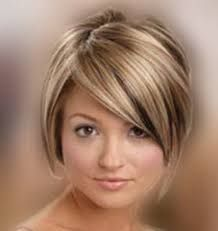 Resultado de imagen para cabello corto para mujeres de cara redonda