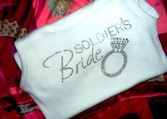 Soldiers Bride Tank Top Shirt Marines Bride Tank Top Shirt Army Navy Bride Military Bride Wedding Shirt via Etsy