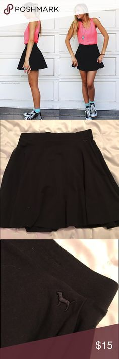 PINK by Victoria's Secret Black Skater Skirt Simple black skater skirt by Victoria's Secret PINK. Never worn and brand new! Good coverage high-rise banding PINK Victoria's Secret Skirts Circle & Skater
