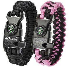 Hunting- A2S Paracord Bracelet K2-Peak Series - High Quality Survival Gear Kit…