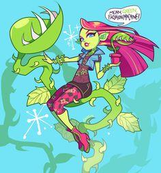 All about Monster High: Venus McFlytrap & Casta Fierce fanart