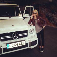 Caroline Stanbury.. wearing LNA and Celine..