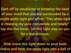 How to Clean Your Aura and Chakras