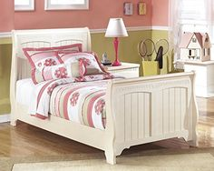 Cottage Retreat Vintage Casual Twin Size Sleigh Bed in Cream Finish   http://www.furnituremaxx.com/Cottage-Retreat-Vintage-Casual-Sleigh/dp/B00L88NFIC