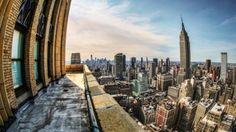 fantastic fisheye view of new york city hdr