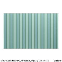 CHIC CUSTOM FABRIC_MINT/BLUE/AQUA STRIPES FABRIC