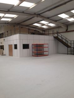 New mezzanine floor, complete with new ground floor office area.
