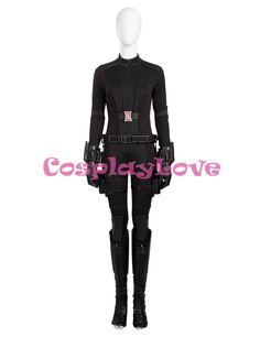>> Click to Buy << The Avengers Black Widow Cosplay Costume Captain American 3 Natasha Romanoff Superhero Black Jumpsuit for Women #Affiliate
