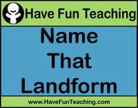 Name That Landform Smartboard Game: Students look at each picture and decide what type of landform is shown. 25 questions. Information: Landforms Smartboard, Social Studies Game, Landforms Activity