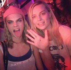Cara Delevingne & Margot Robbie
