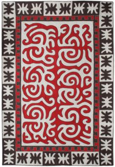 """Shirdak - Felt Carpet. Handmade. 100% Wool. Superb quality. 2*3 m. White, Red, Brown. """"Altai"""" series by Tumar Art Group. Kyrgyz masters achieved their greatest perfection in making shirdak, which was an integral part in the decoration of each yurt. Protecting from cold and damp earth, it gives the interior special warmth, joy and festivity. People introduced harmonious color scheme of the surrounding nature, its joy, sparkling colors of the mountains and valleys into shirdak."""