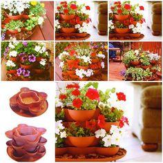 Terracotta Stack and Grow Garden Planter / UsefulDIY.com