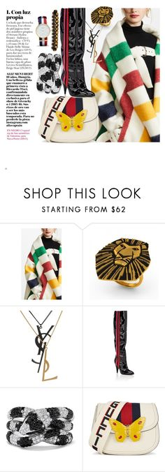 """Stripes"" by demarcusalexan ❤ liked on Polyvore featuring Monse, Disney, Yves Saint Laurent, Alchimia Di Ballin, Effy Jewelry, Gucci and Reclaimed Vintage"