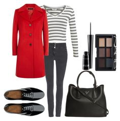by betti-nyilas on Polyvore featuring polyvore, fashion, style, Miss Selfridge, Jaeger, Wallis, FitFlop, Prada, NARS Cosmetics and MAC Cosmetics