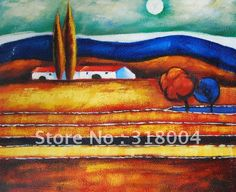 paintings of boats in seascapes | FREE shipping,amazing abstract canvas oil painting for home decoration ...