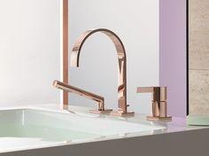 Rubinetto per vasca a 3 fori Collezione MEM by Dornbracht | design Sieger Design
