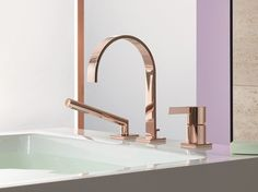 Mem | rubinetto per vasca a 3 fori, design Sieger Design, collezione Mem pour Dornbracht