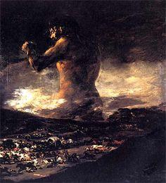 """Le Colosse"" par Francisco GOYA (1808 - 1812)"