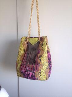 Borse pitonata a secchio di Le borse di Picchi su DaWanda.com
