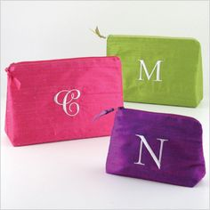 Cosmetic bags in PHENOMENAL colors!