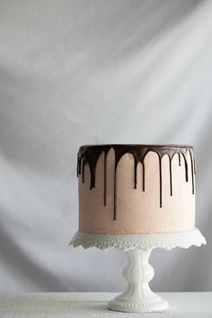 Chocolate Vanilla Tuxedo Cake with Raspberry White Chocolate Buttercream www.PineappleandC...