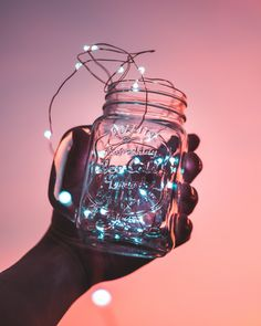 DIY Mason Jar Light It's like a galaxy inside a container. Make this DIY Mason Jar Light that's made with a miniature string light! Simple tutorial by Pop Shop America. Diy Mason Jar Lights, Mason Jar Lighting, Mason Jar Diy, Family Christmas Gifts, Perfect Christmas Gifts, Gifts For Family, Christmas Lights, Christmas Ideas, Aesthetic Colors