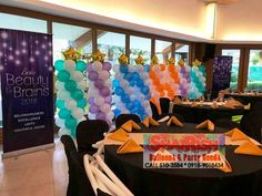 Corporate Event at The Blue Leaf McKinley, Taguig City Balloon Pillars, Company Anniversary, Blue Leaves, Corporate Events, Balloons, Medical, City, Globes, Corporate Events Decor