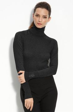 """Something so classic and perfect about a black turtle neck. Very '60's chic .Very """" Laura Petrie """"  In fact, Mary Tyler Moore wore a very similar outfit in the Dick Van Dyke Show episode """"When a bowling pin talks(listen )"""""""