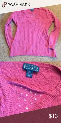 Children's place pink sweater sz L 10/12 Faux layered look The Children's Place Shirts & Tops Sweaters