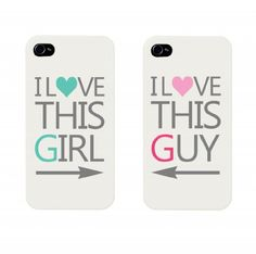 I Love This Girl and I Love This Guy Couples Matching Cell Phone Cases for iphone 4, iphone 5, iphone 5C, Galaxy S3, Galaxy S4, Galaxy S5 by 365 in love