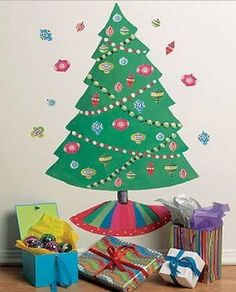 Christmas Kids Room Decor 2013 Home For Children Tree Wall Art