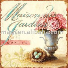 Shabby Rustic French Maison Des Gardins Vingate Floral Metal Signs - Buy Vintage Metal Signs,Antique Metal Signs,Retro Metal Sign Product on...