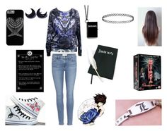 """""""Death Note"""" by bethie3313 ❤ liked on Polyvore featuring Topshop and Frame Denim"""
