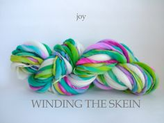 JOY - Thick and Thin, Handspun Yarn