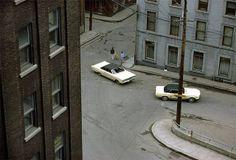 Fred Herzog, Two White Cars, Quebec City