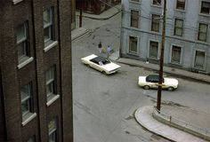 Fred Herzog, Two White Cars, Quebec City