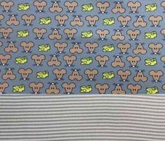 Set Jersey Mäuse grau +Bündchen