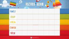 Rozvrh Hodin Deti Škola Paper Decorations, Have Fun, Crafts For Kids, Entertaining, Education, Crafts For Children, Kids Arts And Crafts, Onderwijs